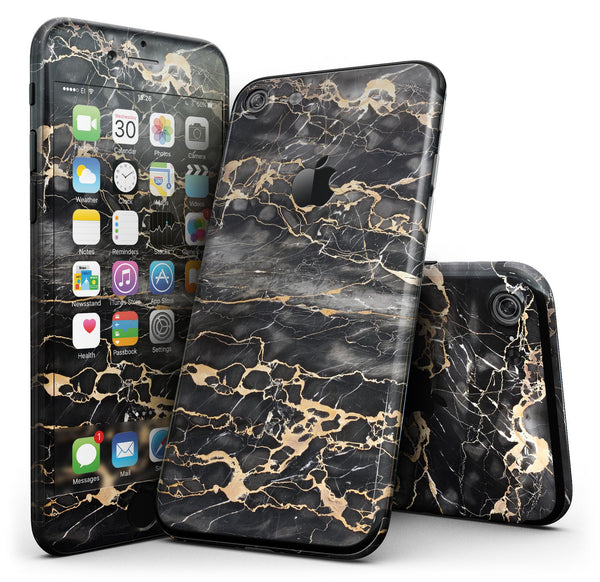 Black and gold marble surface iphone 7 fullbody 4pc v1 jpg