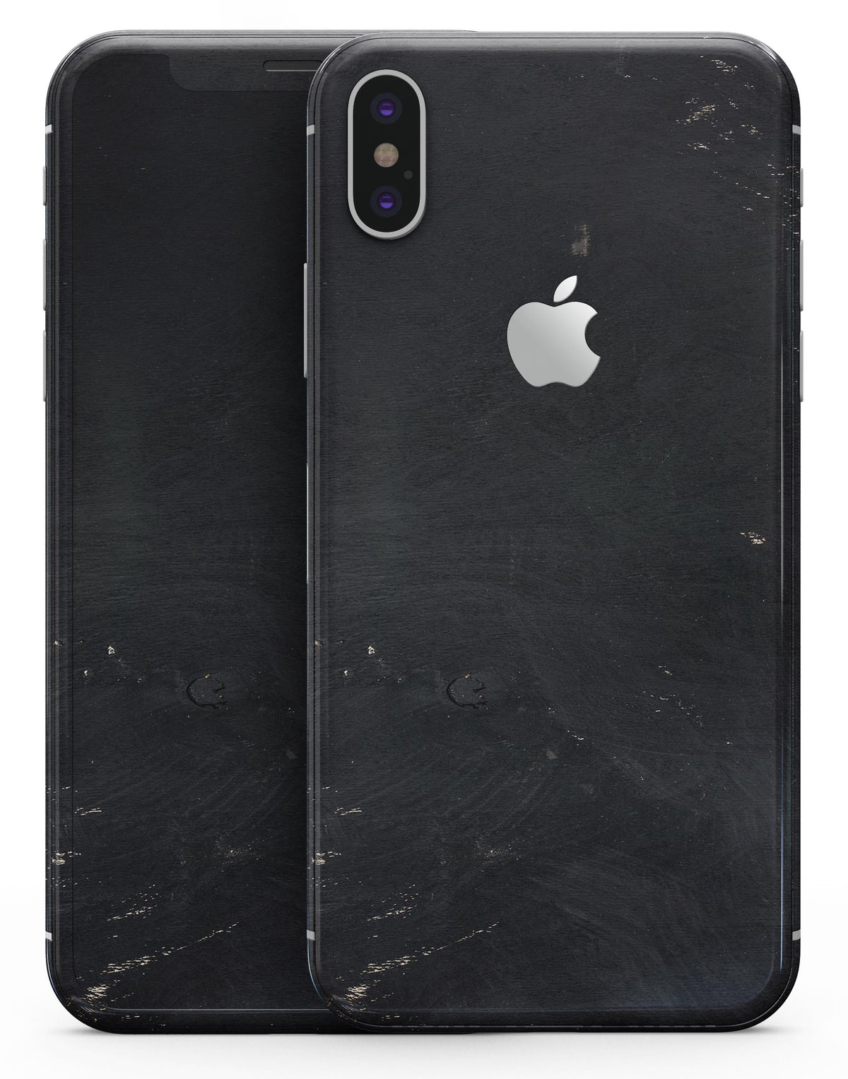 huge discount 1c418 7732d Black and Gold Scratched Woodgrain - iPhone X Skin-Kit