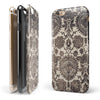 Black and Neutral Decadence Pattern iPhone 6/6s or 6/6s Plus 2-Piece Hybrid INK-Fuzed Case