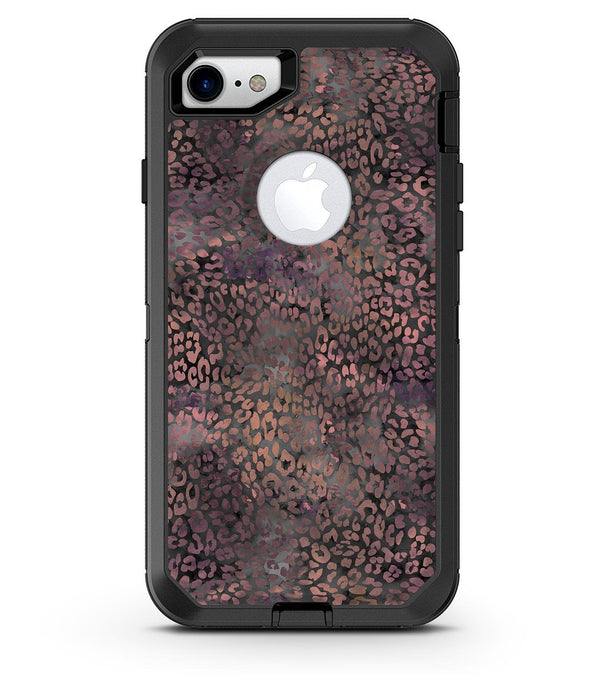 Black and Purple Watercolor Leopard Pattern - iPhone 7 or 8 OtterBox Case & Skin Kits