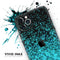 Black and Turquoise Unfocused Sparkle Print - Skin-Kit for the Apple iPhone 11, 11 Pro or 11 Pro Max
