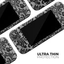 Black and White Lace Pattern V108 - Skin Wrap Kit for Nintendo Switch, Switch Lite Console | 3DS XL | 2DS | Pro | Joy-Con Gaming Controller