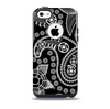 Black and White Paisley Pattern v14 Skin for the iPhone 5c OtterBox Commuter Case