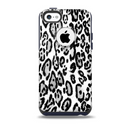Black and White Snow Leopard Pattern Skin for the iPhone 5c OtterBox Commuter Case