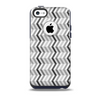 Black and White Thin Lined ZigZag Pattern Skin for the iPhone 5c OtterBox Commuter Case