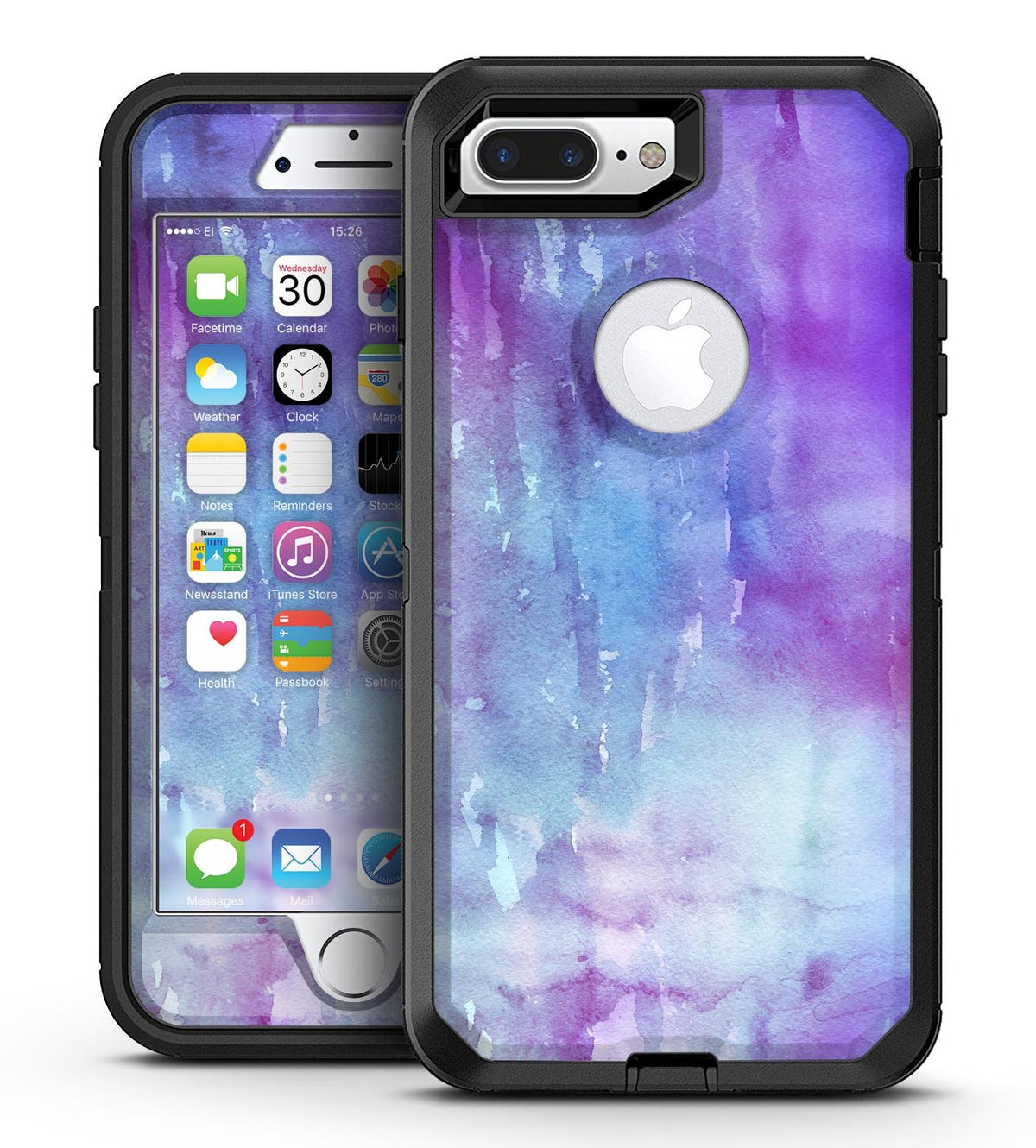 release date e38ab 670f2 Blotted Purple 896 Absorbed Watercolor Texture - iPhone 7 Plus/8 Plus  OtterBox Case & Skin Kits