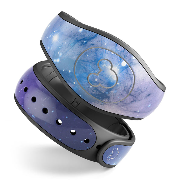 Blue & Purple Mixed Universe - Decal Skin Wrap Kit for the Disney Magic Band