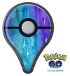 Blue 823 Absorbed Watercolor Texture Pokémon GO Plus Vinyl Protective Decal Skin Kit