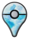 Blue 98 Absorbed Watercolor Texture Pokémon GO Plus Vinyl Protective Decal Skin Kit