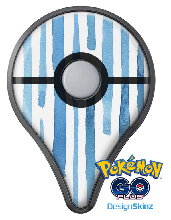 Blue Abstract WaterColor Strokes Pokémon GO Plus Vinyl Protective Decal Skin Kit