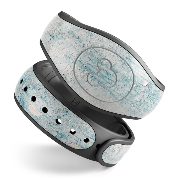 Blue Chipped Concrete Wall - Decal Skin Wrap Kit for the Disney Magic Band