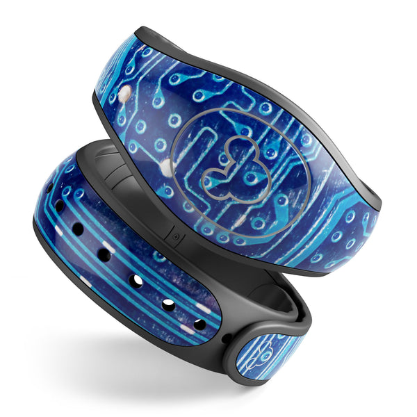 Blue Circuit Board V1 - Decal Skin Wrap Kit for the Disney Magic Band