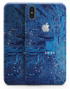 Blue Cirtcuit Board V1 - iPhone X Skin-Kit