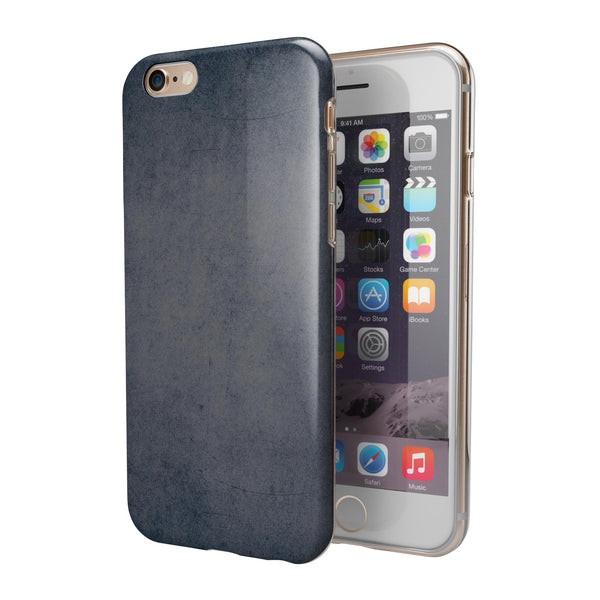 Blue Concrete Grunge Surface iPhone 6/6s or 6/6s Plus 2-Piece Hybrid INK-Fuzed Case