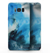 Blue Dark 32 Absorbed Watercolor Texture - Samsung Galaxy S8 Full-Body Skin Kit
