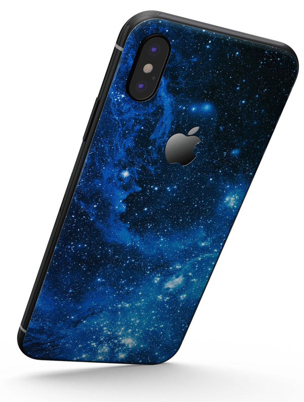 Blue Hue Nebula - iPhone X Skin-Kit