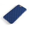 Blue Polka Dots Over Navy  iPhone 6/6s or 6/6s Plus 2-Piece Hybrid INK-Fuzed Case