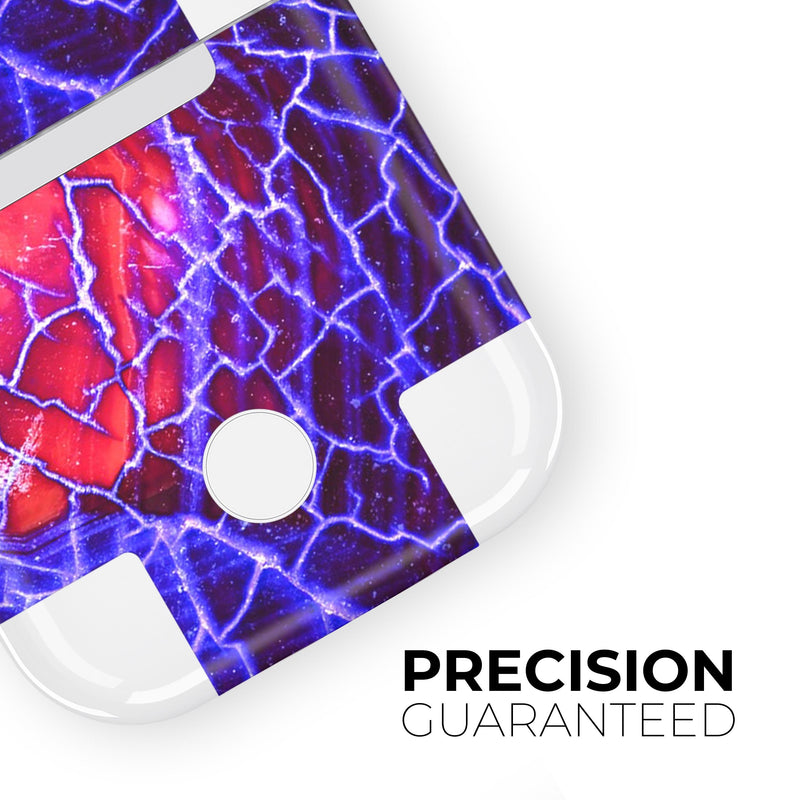 Blue Red Dragon Vein Agate - Full Body Skin Decal Wrap Kit for the Wireless Bluetooth Apple Airpods Pro, AirPods Gen 1 or Gen 2 with Wireless Charging