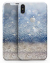 Blue Unfocused Silver Sparkle - iPhone X Skin-Kit