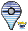 Blue WaterColor Ombre Stripes Pokémon GO Plus Vinyl Protective Decal Skin Kit