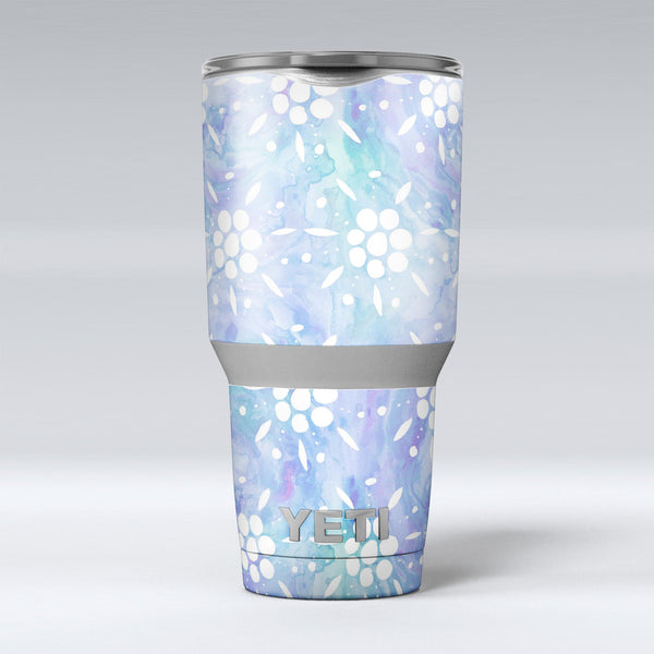 Blue_Watercolor_and_White_Flower_Print_Pattern_-_Yeti_Rambler_Skin_Kit_-_30oz_-_V1.jpg