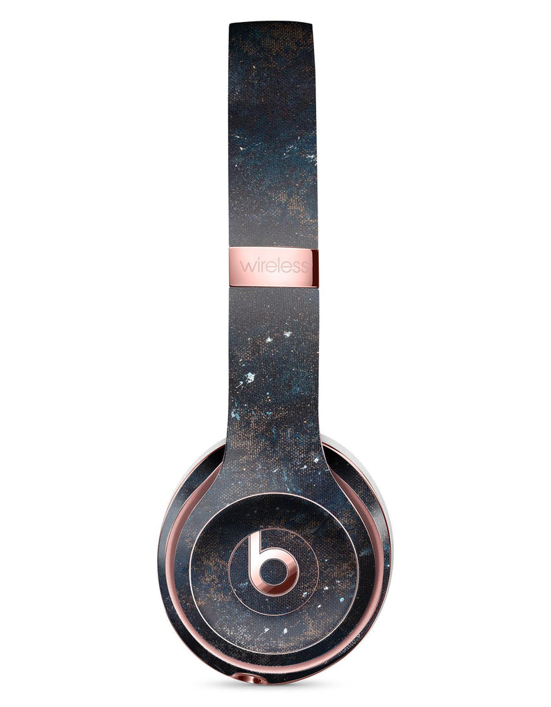 Blue and Gold Grunge Splatter Full-Body Skin Kit for the Beats by Dre Solo 3 Wireless Headphones