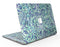 Blue and Green Damask Watercolor Pattern - MacBook Air Skin Kit