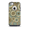 Blue and Green Overlapping Circles Skin for the iPhone 5c OtterBox Commuter Case