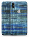 Blue and Green Tye-Dyed Wood - iPhone X Skin-Kit