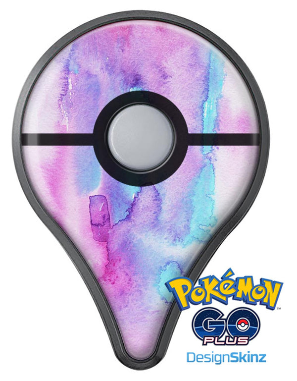 Blue and Pinkish Absorbed Watercolor Texture Pokémon GO Plus Vinyl Protective Decal Skin Kit