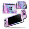 Blue and Pinkish Absorbed Watercolor Texture - Skin Wrap Decal for Nintendo Switch Lite Console & Dock - 3DS XL - 2DS - Pro - DSi - Wii - Joy-Con Gaming Controller