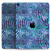 "Blue and Purple Watercolor Zebra Pattern - Full Body Skin Decal for the Apple iPad Pro 12.9"", 11"", 10.5"", 9.7"", Air or Mini (All Models Available)"