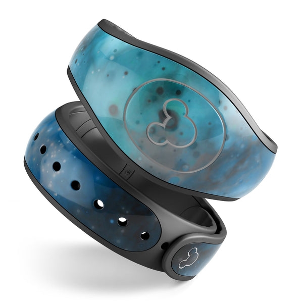 Blue and Teal Painted Universe - Decal Skin Wrap Kit for the Disney Magic Band