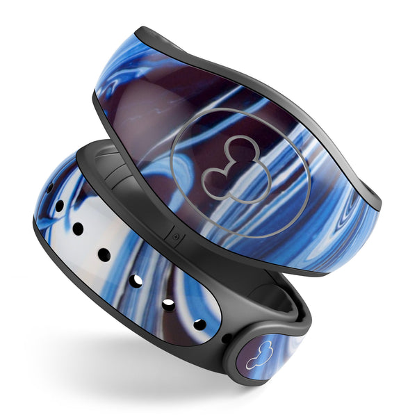 Blue and White Blended Paint - Decal Skin Wrap Kit for the Disney Magic Band
