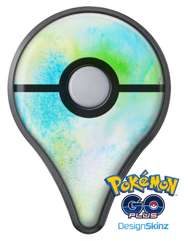 Blue to Green 4221 Absorbed Watercolor Texture Pokémon GO Plus Vinyl Protective Decal Skin Kit