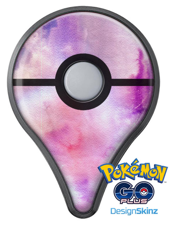Blue to Purps Absorbed Watercolor Texture Pokémon GO Plus Vinyl Protective Decal Skin Kit