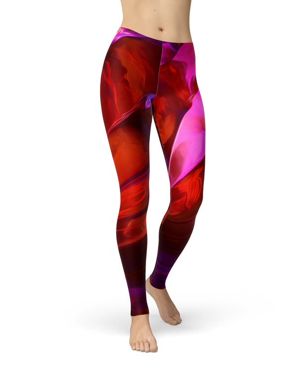 Blurred Abstract Flow V45 - All Over Print Womens Leggings / Yoga or Workout Pants