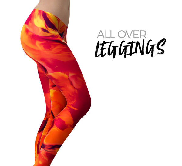 Blurred Abstract Flow V54 - All Over Print Womens Leggings / Yoga or Workout Pants