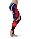 Blurred Abstract Flow V55 - All Over Print Womens Leggings / Yoga or Workout Pants