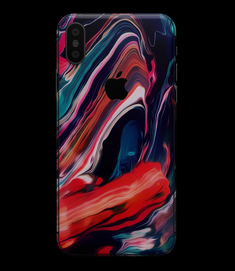 Blurred Abstract Flow V55 - iPhone XS MAX, XS/X, 8/8+, 7/7+, 5/5S/SE Skin-Kit (All iPhones Available)