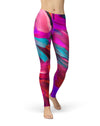 Blurred Abstract Flow V56 - All Over Print Womens Leggings / Yoga or Workout Pants