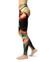 Blurred Abstract Flow V60 - All Over Print Womens Leggings / Yoga or Workout Pants