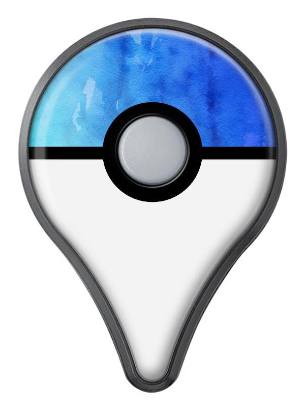 Blushed Blue 44 Absorbed Watercolor Texture Pokémon GO Plus Vinyl Protective Decal Skin Kit