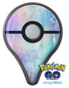 Blushed Blue to MInt 42 Absorbed Watercolor Texture Pokémon GO Plus Vinyl Protective Decal Skin Kit