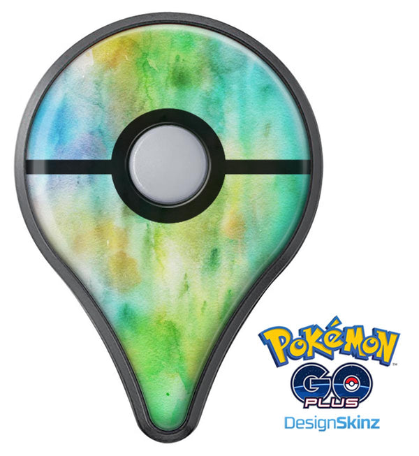 Blushed Green 32 Absorbed Watercolor Texture Pokémon GO Plus Vinyl Protective Decal Skin Kit