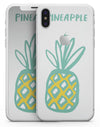 Bold Mint Pineapple - iPhone X Skin-Kit