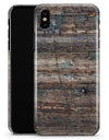 Bolted Horizontal Woodgrain - iPhone X Clipit Case