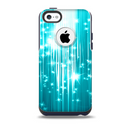 Bright Blue Glistening Streaks Skin for the iPhone 5c OtterBox Commuter Case