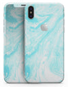 Bright Blue Textured Marble - iPhone X Skin-Kit