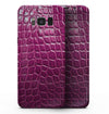 Bright Magenta Aligator Skin  - Samsung Galaxy S8 Full-Body Skin Kit